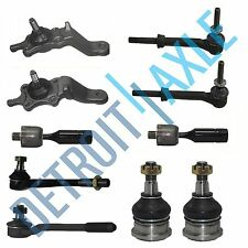 10pc Upper Lower Ball Joint Tie Rod Sway Bar Kit for 1996-2002 Toyota 4Runner