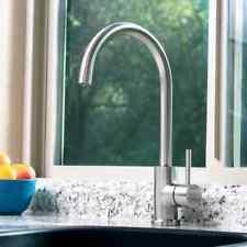 Modern Brushed Steel Kitchen Basin Sink Mono Bloc Mixer Swivel Tap SUS304