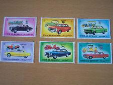 Umm Al Qiwain Car Conjunto de 6 Vals, u/Menta sello. Inc, Rolls Royce.