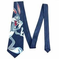 Bunbury Bugs Bunny Looney Tunes Necktie Blue Hand Made Tie