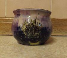 VASO di ceramica-Studio? - malva con dettaglio floreale