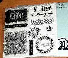 CTMH D1586 IVY LANE WORKSHOP STAMP ~ LIFE is better with FRIENDS, Y u're Amazing