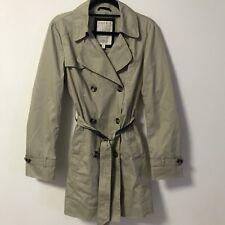Esprit Trench Coat Size 12 Beige Knee Length 100% Cotton