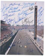 ~INDY 500 8X10  signed by 26 Former Drivers RATHMANN, LEONARD,Gary B., Grant~