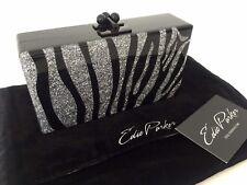 EDIE PARKER GLITTER ZEBRA ACRYLIC BOX CLUTCH RETAIL £1095....RARE!!!
