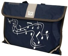 More details for music carrier bag with carry handle & name card holder in navy blue