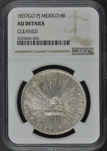 1837GO PJ MEXICO Silver Eight Reales 8R NGC AU Details