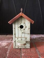 Rare Marjolein Bastin Birdhouse Indoor Outdoor Copper Roof Lrg Size 12.5x4.5�