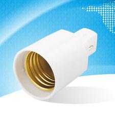 G24 to E27 Socket Base Screw LED Lamp Halogen Light Bulb Adapter Converter OM