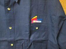 Nascar Racing Navy Dress Shirt XL NASCAR Embroidery logo left Pocket