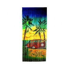 Bamboo Beaded Curtain Room Divider Tropical Car Scene Door Wall Hanging Panel