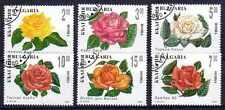 Flore - Roses Bulgarie (17) série complète de 6 timbres oblitérés