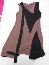 Très jolie robe tunique GLAMZ destructurée asymétrique tissu stretch T38 TBE