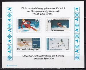 SPORT : Germany 1978 skying unaccepted designs for special issues block
