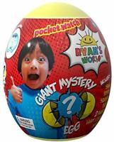 Ryan's World GIANT MYSTERY EGG YELLOW Surprise Toy Review 2018