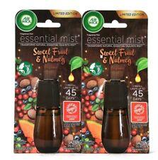 2 Count Air Wick 0.67 Oz Essential Mist Sweet Fruit & Nutmeg Fragrance Refill