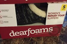 Dearfoams Comfortable Clog Style Black Womens Slippers Small 5/6 Free Shipping