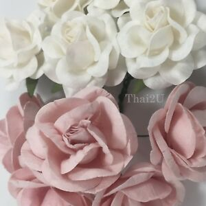 20 White Pink Mix Paper Flower Wedding bouquet Favor Gift Scrapbook TH/SET-A1