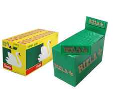 Full Box of Rizla Green Rolling Papers & Full Box of Swan Extra Slim Filters