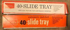 Vintage Sears 40 Slide Trays (2)