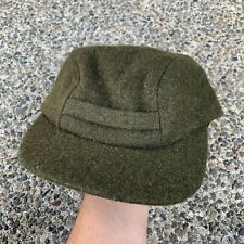 Vintage BNWT NOS FILSON Mackinaw Wool Hat Cap Insulated Ear Flaps Forest Green S