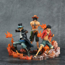 3PCS Anime One Piece Attack Styling Luffy Ace Sabo Brotherhood Figure Toy in Box