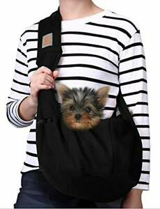 TOMKAS Dog Carrier for Small Dogs Puppy Black
