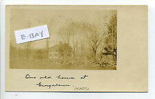 """Georgetown MA Mass RPPC real photo """"Our House"""", 1908"""