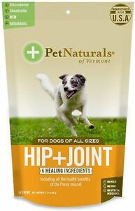 Pet Naturals of Vermont Hip + Joint Dog Chews, 60 count Free Shipping