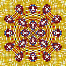 Australia painting dot energy art print canvas 100cm x 100cm