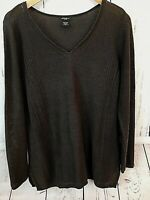 Eddie Bauer Women's Large Gray Ramie Cotton Thin Woven Gray Tunic Sweater Top L