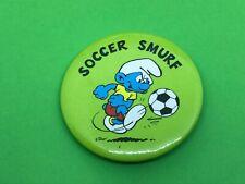 Soccer Smurf Smurfs Schlümpfe Pin Badge 5.5cm Diameter