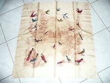 Carré foulard en soie oiseaux