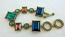 HEIDI DAUS 'Fabulous Rocks' Bracelet Adjustable 8 or 9 Inch Toggle Clasp