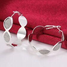 Women Fashion Jewelry 925 Silver Plated Hoop Dangle Earrings 41-5