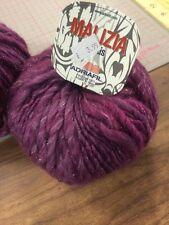 Adriafil Malizia Trends Yarn Wool Super Chunky Shade 83 Purple Plum Grape 50g