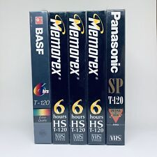 LOT OF 5 VHS TAPES MEMOREX PANASONIC BASF T-120 6 Hours Video FACTORY SEALED