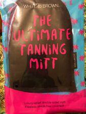 WHITE to BROWN Deluxe Velvet Self Tanning Fake Tan Application Mitt High Quality