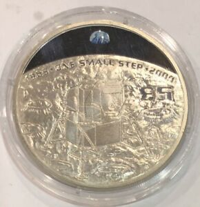 2009 Proof £5 Coin Guernsey Coloured moon Landing one small step