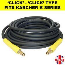 10m Karcher K Series Pressure Washer Hose Click Trigger Click - ANTI-KINK RUBBER