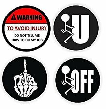 4x RUDE # Best Seller #2 Hart Hat Osha Union Electrician sticker Decal fun joke