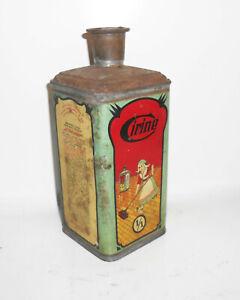 Ancienne Boite de Conserve Cirine Cire à Parquets Décoratifs ! 1910er 1920er