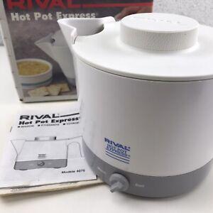 RIVAL HOT POT EXPRESS Electric Tea Kettle 32 Ounce White Model 4071 w/Box