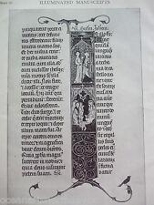 ANTIQUE PRINT 1926 ILLUMINATED MANUSCRIPTS LECTIONARY USE OF PARIS HISTORY BOOKS