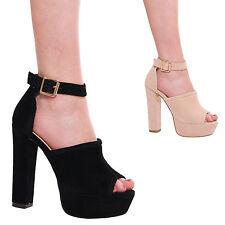 Unbranded Block Heel Peep Toe Formal Shoes for Women