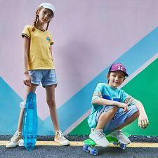 22'' Kreuzer Durchsichtiges Brett LED-Leuchten Räder Retro-Komplettboard Kinder