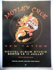 """PUBLICITE-ADVERTISING :  MOTLEY CRÜE  2000 pour la sortie de """"New Tattoo"""""""