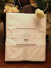 Pottery Barn CLASSIC 400-THREAD-COUNT SHEET SET,  White Size King, W/$159.00