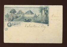 Egypt CAIRO Gizeh Used 1899 u/b vignette PPC