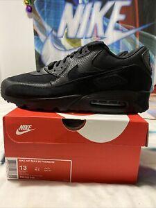 "Nike Air Max 90 Premium ""Triple Black"" 700155 012 DS size 13"